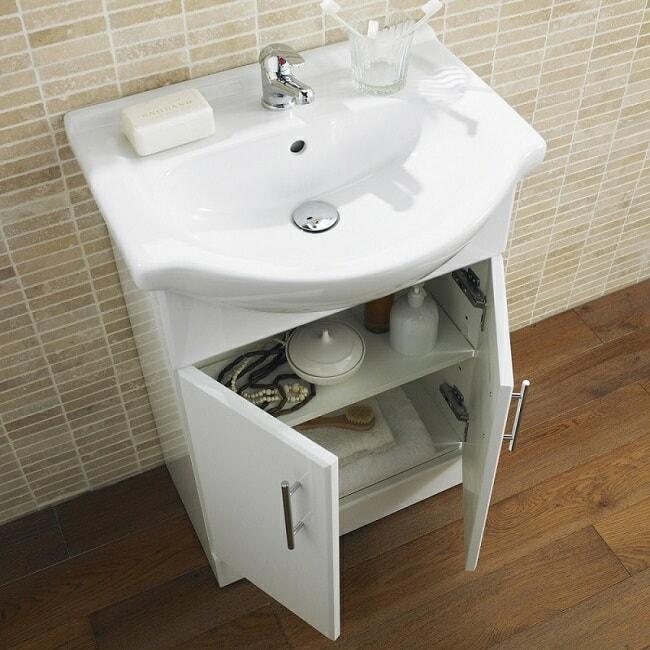 white- gloss vanity unit
