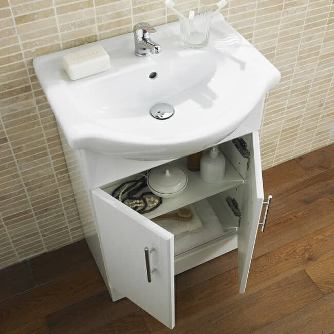 white- gloss vanity unit