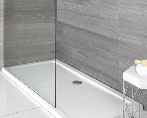 White low profile shower tray