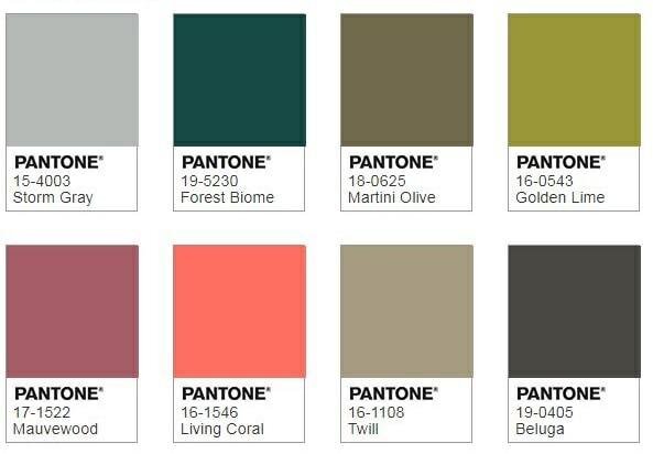 Pantone Focal Point Colour Palette