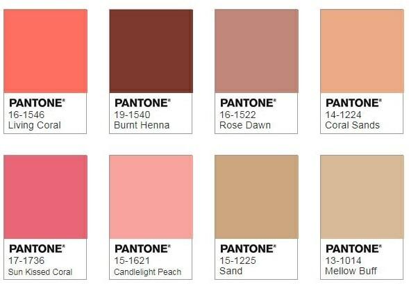 Pantone Sympatico Colour Palette