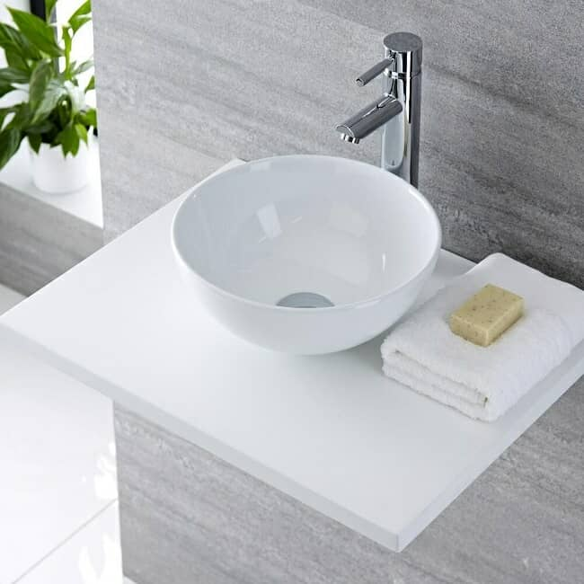 modern round countertop basin