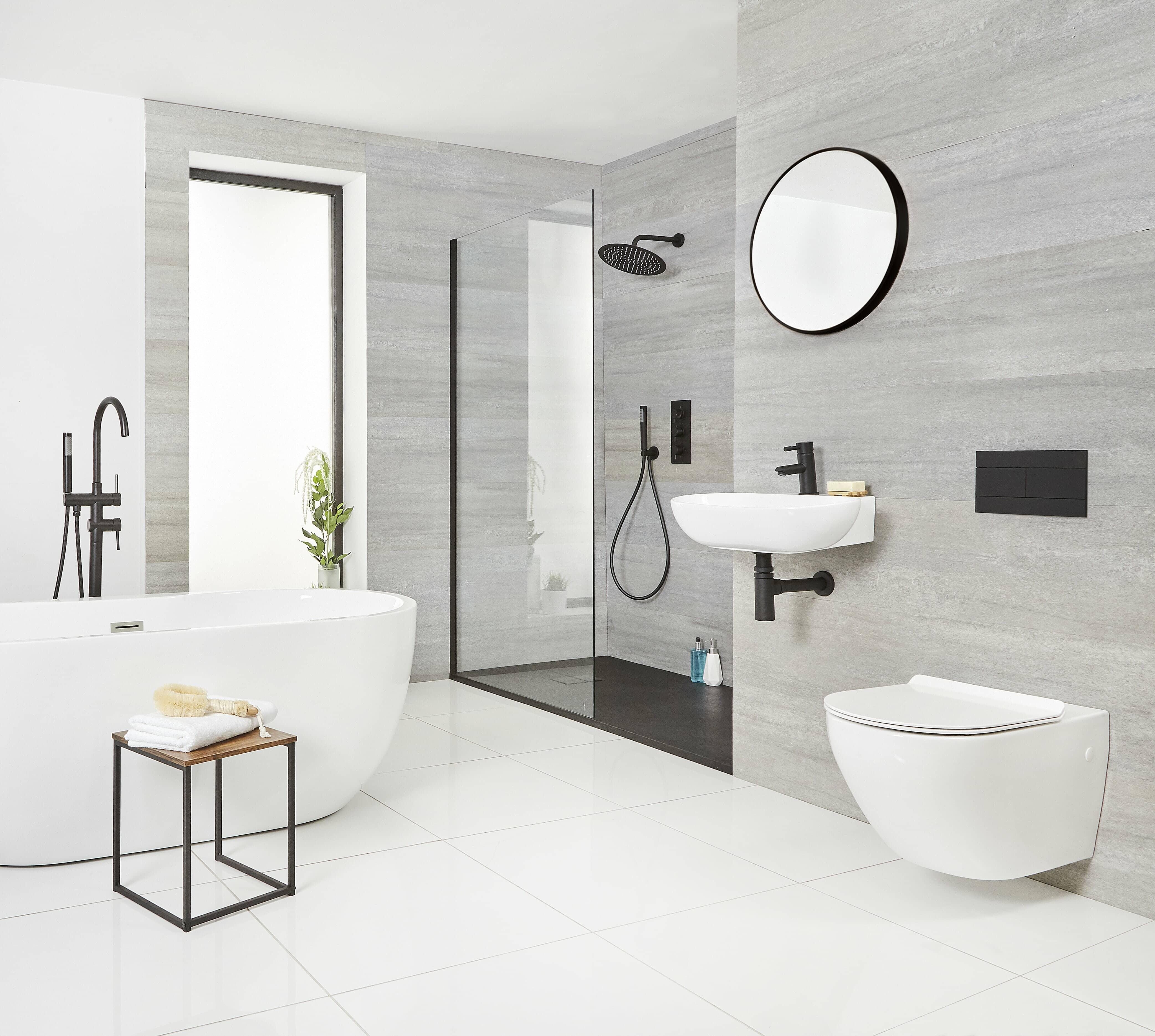 Black Bathroom Design Ideas Big, Complete Bathroom Designs
