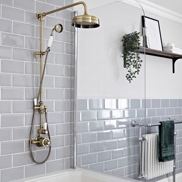 Brushed Gold Shower