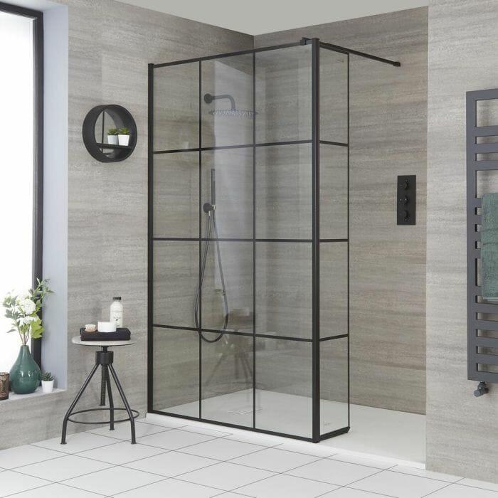 Grid Shower Door