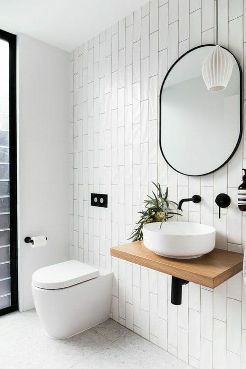 Minimalist White Bathroom with Elegant