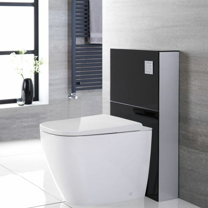 japanese black back to wall toilet