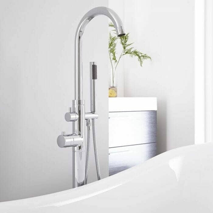 luxury freestanding bath tap