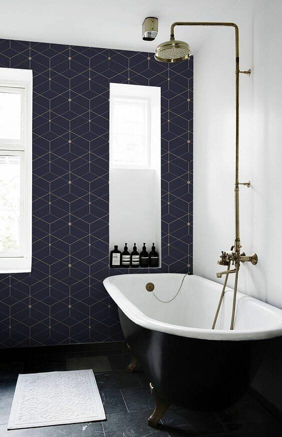 traditional bathroom wallpaper