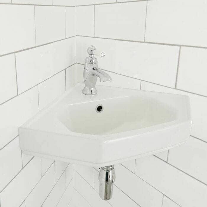 corner vintage basin