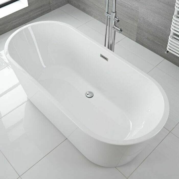 ballam white oval bath