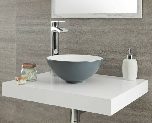 stone grey sink