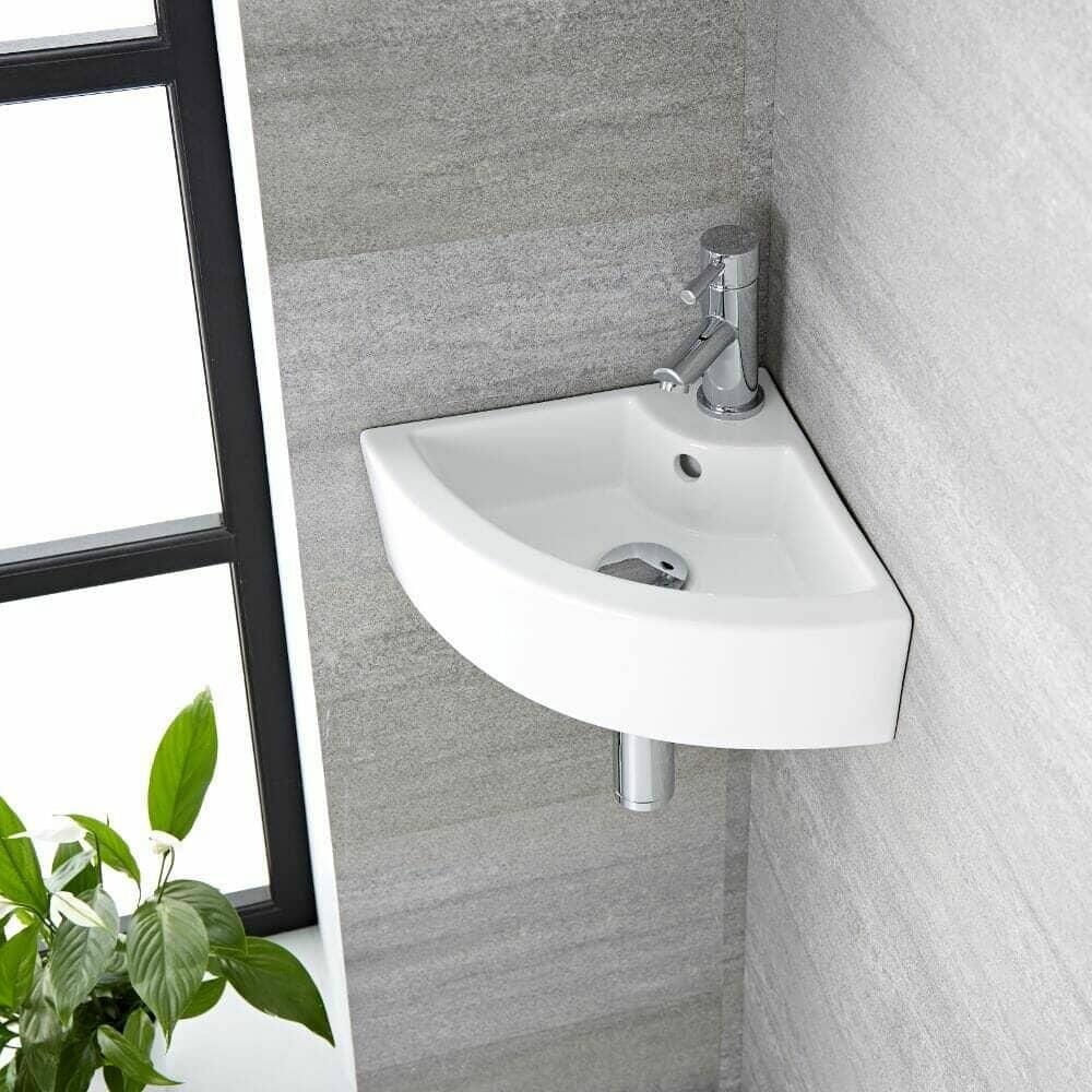 milano newby corner sink
