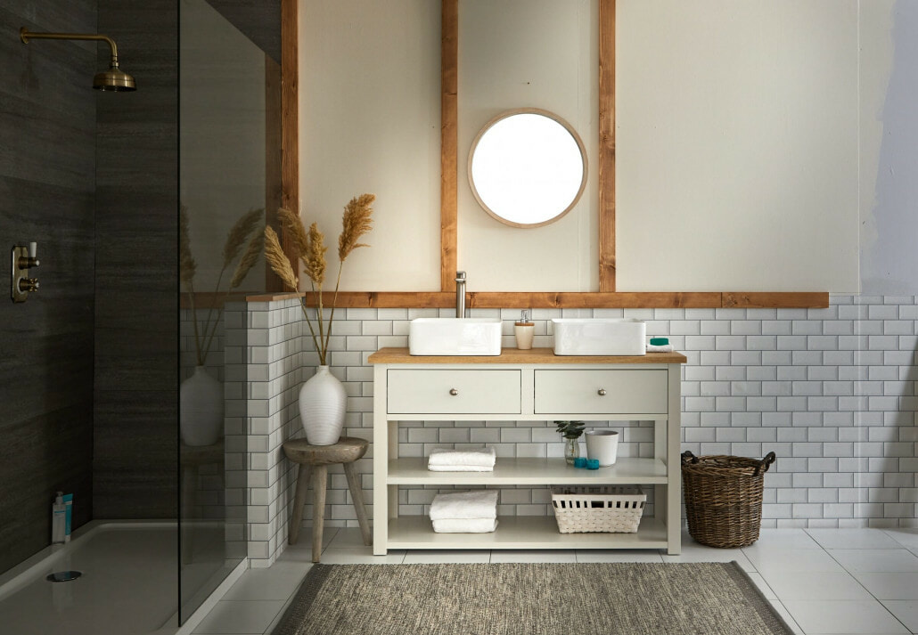 Aston & Henley Vanity Unit in a scandi style bathroom space