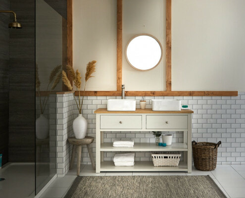 Aston & Henley Vanity Unit in a scandi style bathroom space