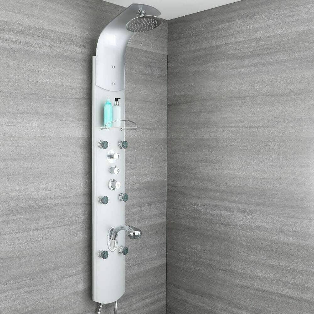 milano baya exposed shower panel