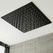 milano nero black square shower head