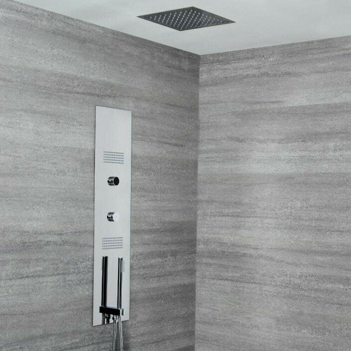concealed digital shower chrome