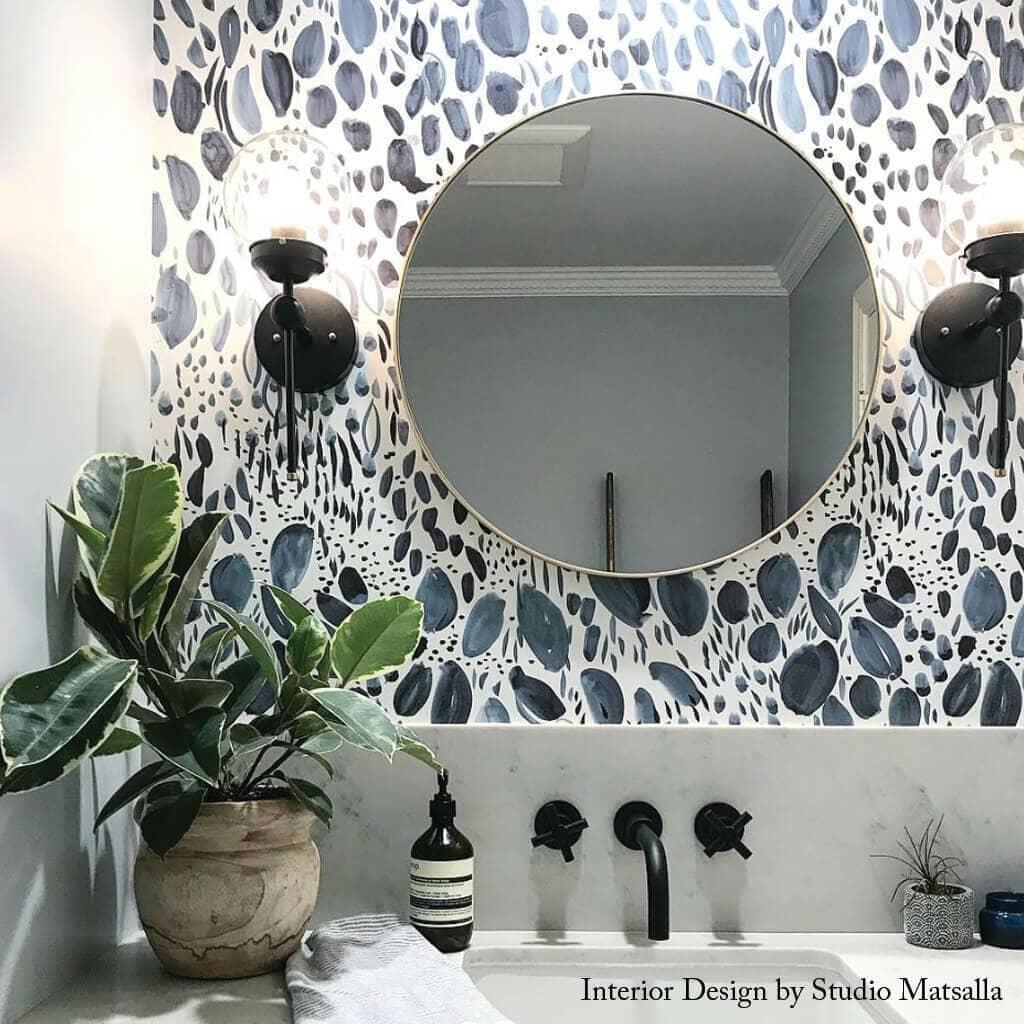 fun bathroom wallpaper