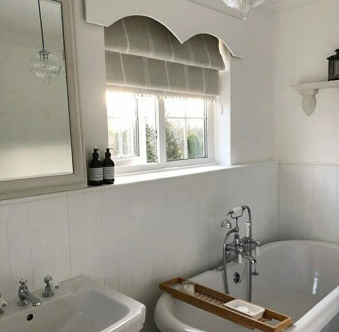 traditional bathroom and freestanding bathtub by little_paddock_cottage on Instagram