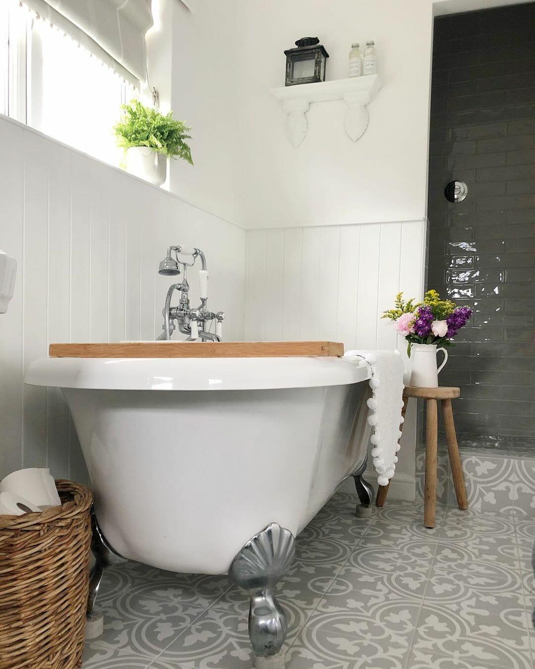 country bathroom bath & tap