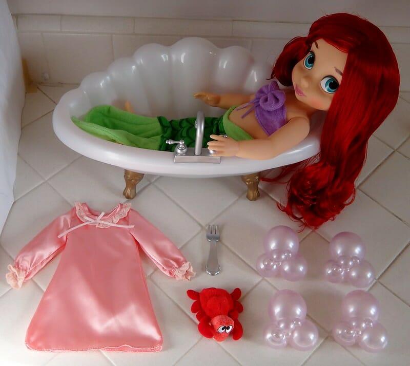 little mermaid bath set