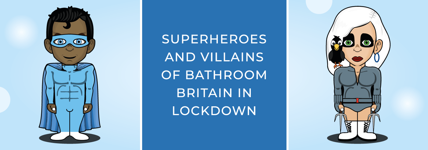 Superheroes and villains lockdown blog banner