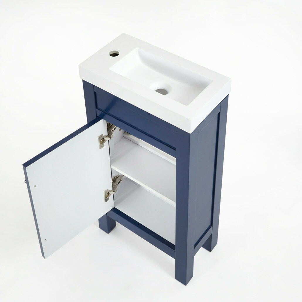 navy blue freestanding aston