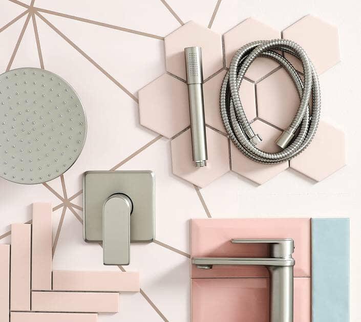sherbet shades, pink bathroom ideas