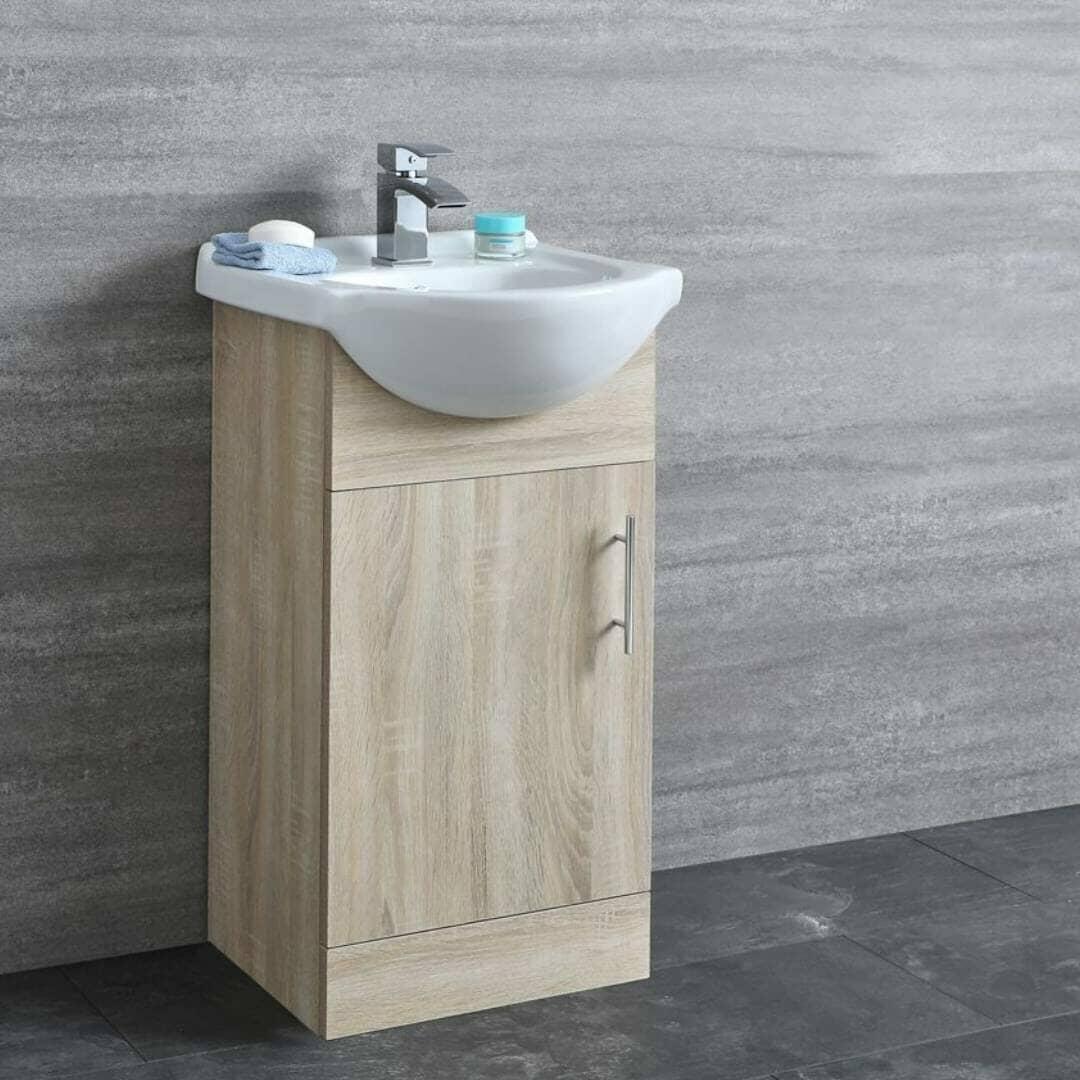 arch wooden vanity unit