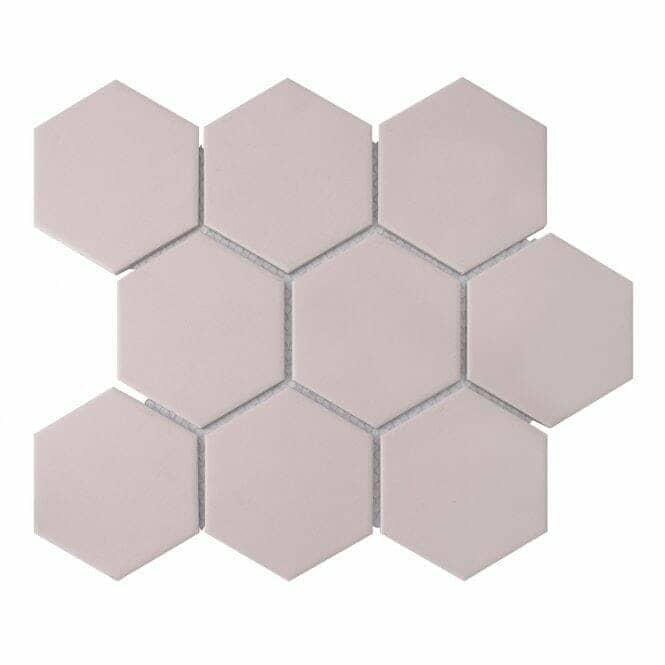 Hexagon pink mosaic