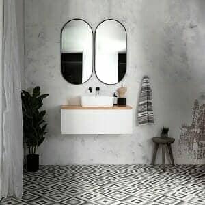 raw basin area in a hotel bathroom style