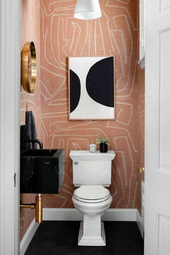 Funky bathroom wallpaper