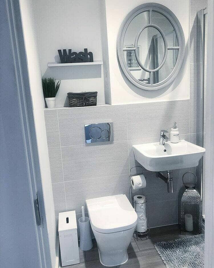 Mrs Hinch Grey Bathroom