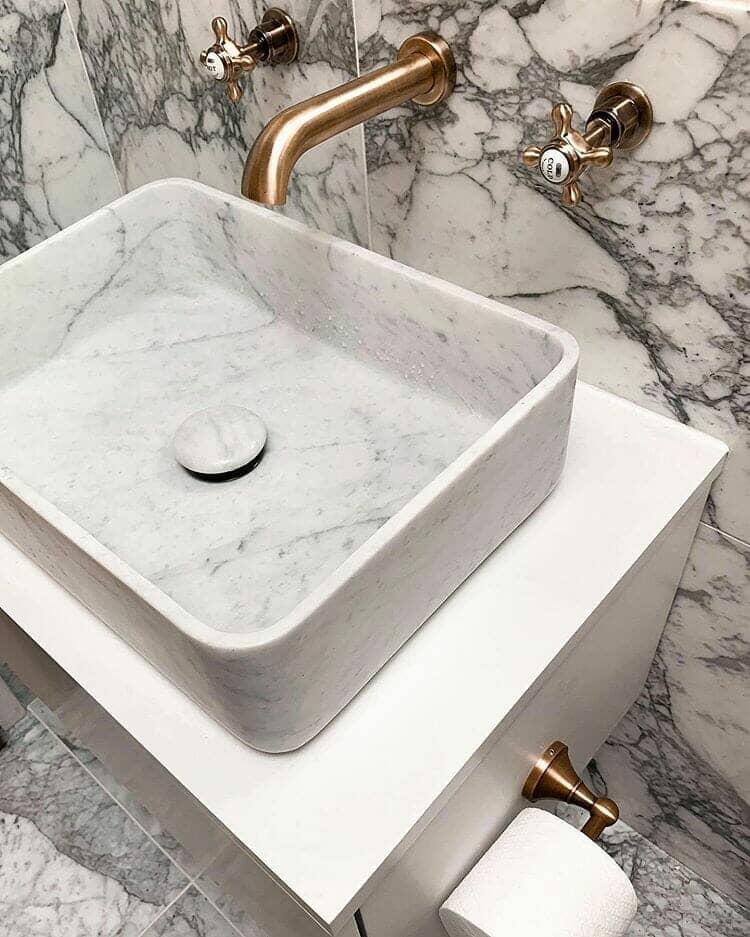 parisian marble bathroom