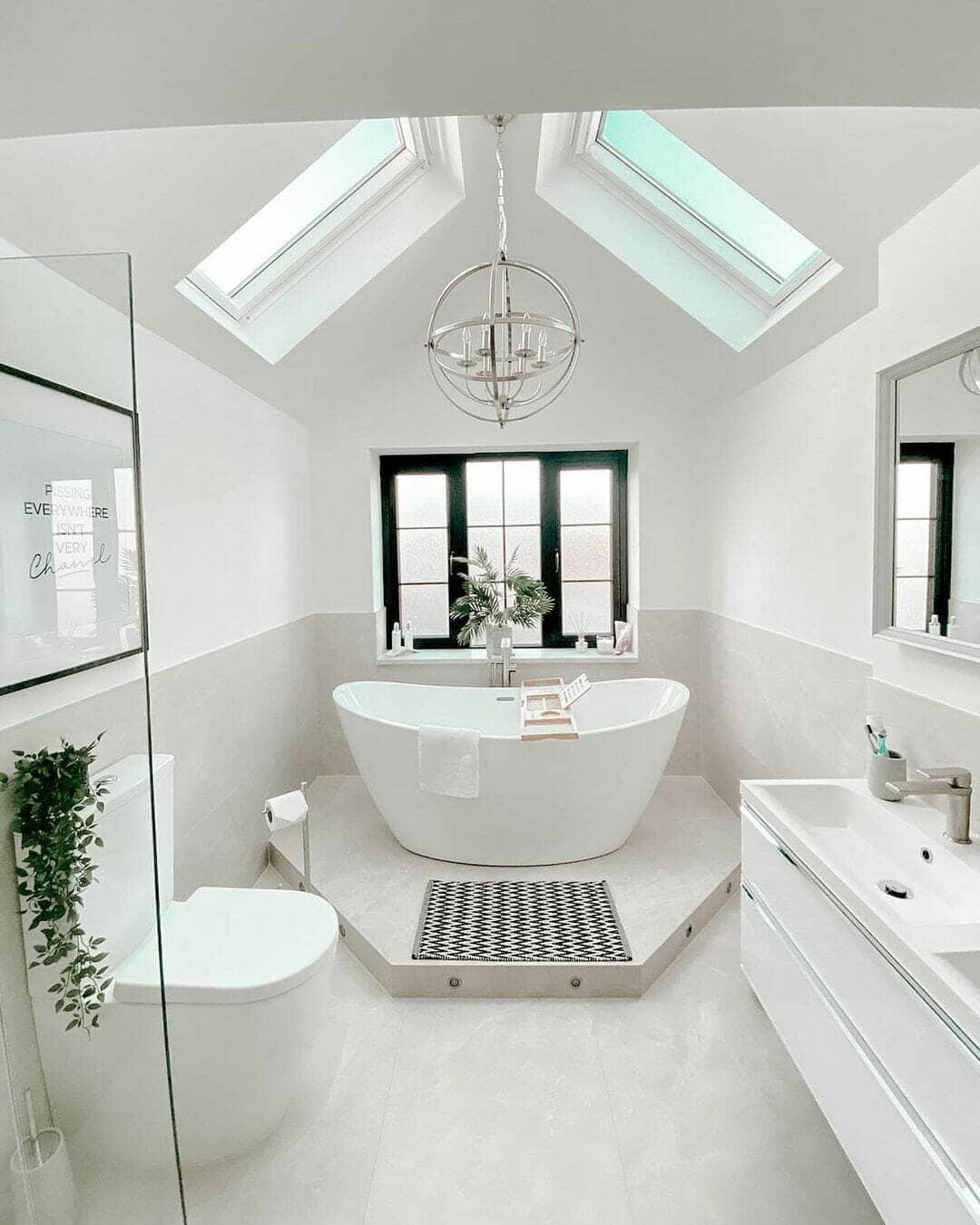 simple bathroom interior