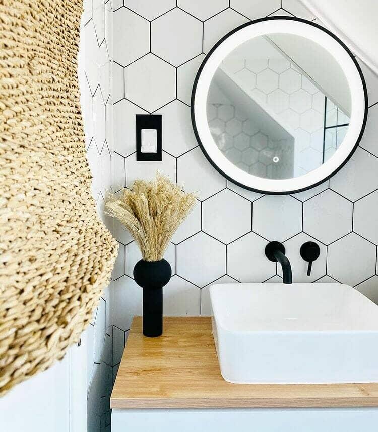 black wall mounted tap