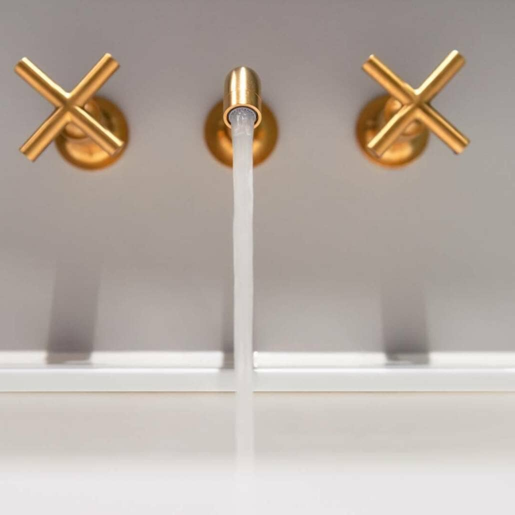 brass wall mounted taps