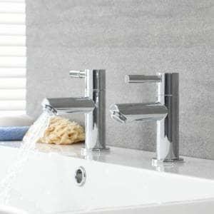 chrome pillar modern taps