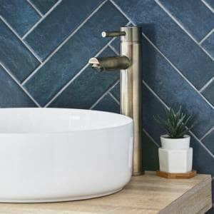brushed gold mixer basin tap
