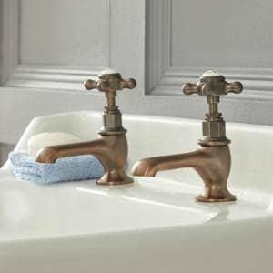 traditional pillar bronze taps
