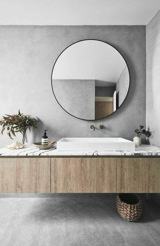 modern concrete effect bathroom