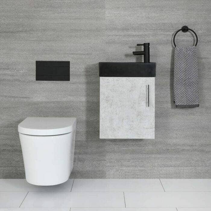 milano lurus concrete vanity