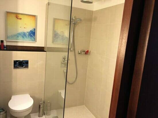 Sheraton Sopot Hotel, Poland shower enclosure and toilet