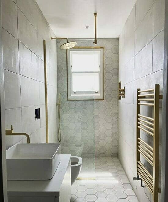 a small bathroom space transformed into a wetroom