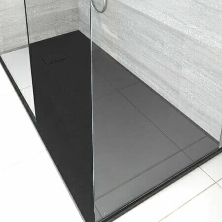 Milano Nero Walk In Shower Tray