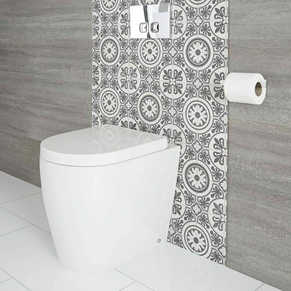 Milano Overton modern oval back to wall toilet