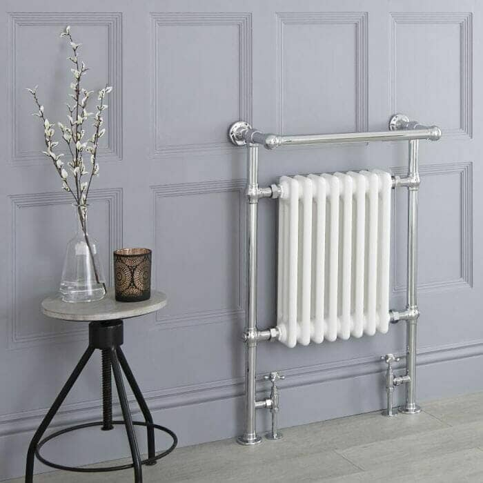 Milano Elizabeth - White Traditional Heated Towel Rail