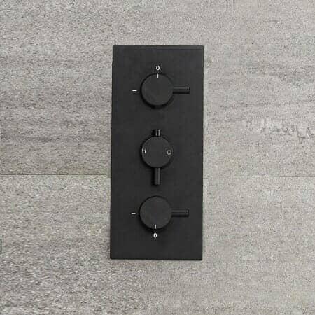 Milano Nero Shower valve