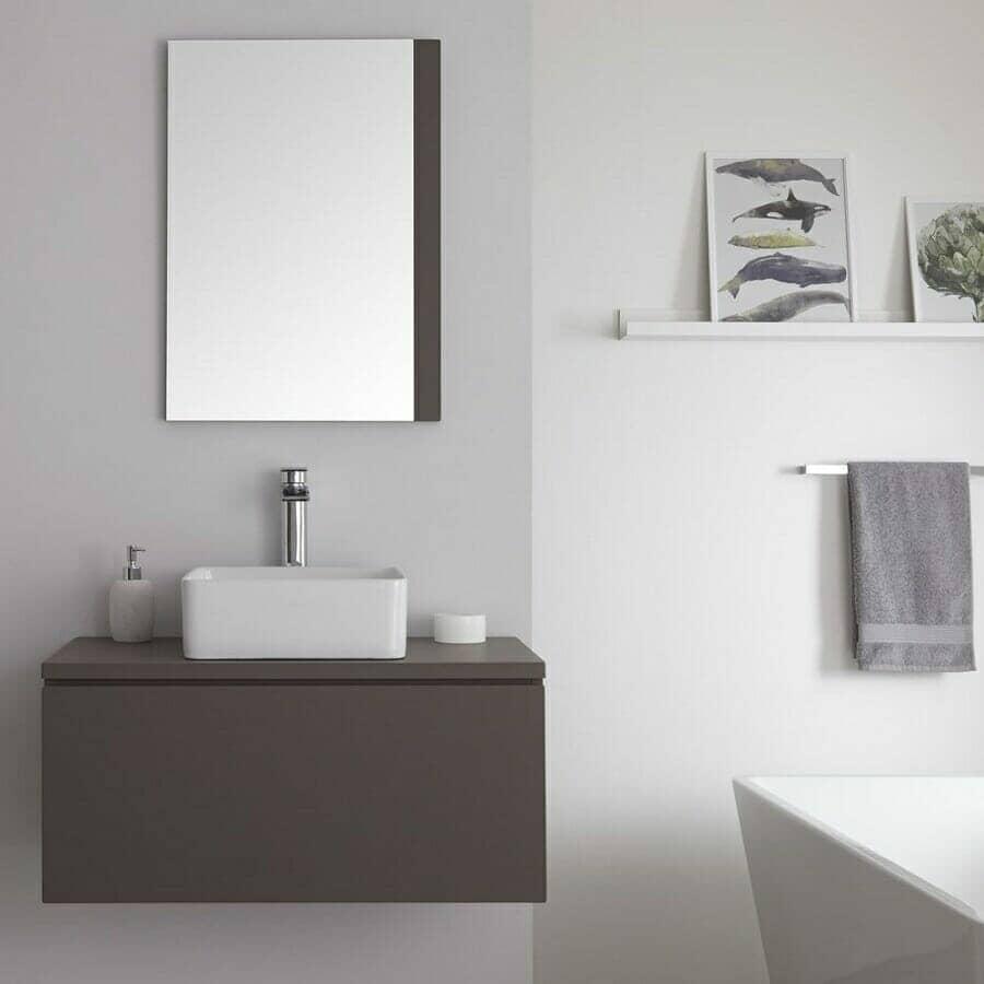 Milano Oxley Grey Wall Hung Vanity Unit